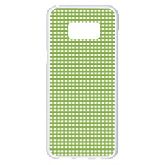 Gingham Check Plaid Fabric Pattern Samsung Galaxy S8 Plus White Seamless Case by Nexatart