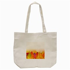 Autumn Leaves Colorful Fall Foliage Tote Bag (cream) by Nexatart