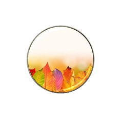 Autumn Leaves Colorful Fall Foliage Hat Clip Ball Marker by Nexatart