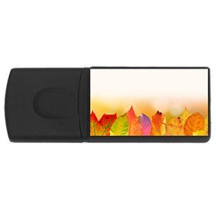 Autumn Leaves Colorful Fall Foliage Usb Flash Drive Rectangular (4 Gb) by Nexatart