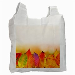 Autumn Leaves Colorful Fall Foliage Recycle Bag (one Side)