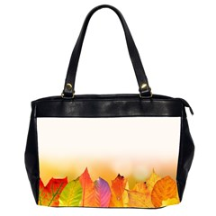 Autumn Leaves Colorful Fall Foliage Office Handbags (2 Sides)  by Nexatart
