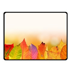 Autumn Leaves Colorful Fall Foliage Fleece Blanket (small) by Nexatart