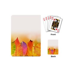 Autumn Leaves Colorful Fall Foliage Playing Cards (mini)  by Nexatart