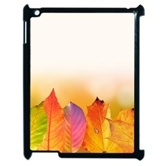 Autumn Leaves Colorful Fall Foliage Apple Ipad 2 Case (black) by Nexatart