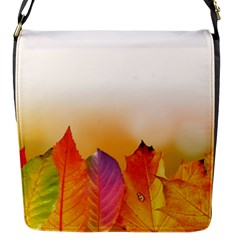Autumn Leaves Colorful Fall Foliage Flap Messenger Bag (s) by Nexatart