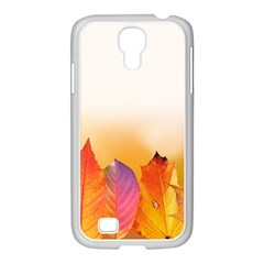 Autumn Leaves Colorful Fall Foliage Samsung Galaxy S4 I9500/ I9505 Case (white) by Nexatart