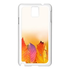 Autumn Leaves Colorful Fall Foliage Samsung Galaxy Note 3 N9005 Case (white) by Nexatart