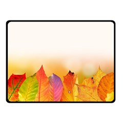 Autumn Leaves Colorful Fall Foliage Double Sided Fleece Blanket (small)  by Nexatart