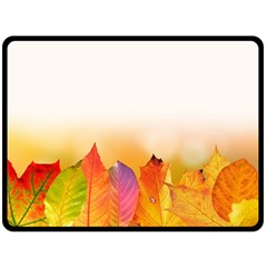 Autumn Leaves Colorful Fall Foliage Double Sided Fleece Blanket (large)  by Nexatart