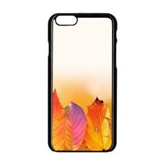 Autumn Leaves Colorful Fall Foliage Apple Iphone 6/6s Black Enamel Case by Nexatart