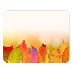 Autumn Leaves Colorful Fall Foliage Double Sided Flano Blanket (large)  by Nexatart