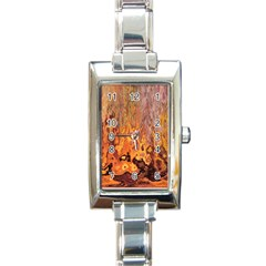 Background Texture Pattern Vintage Rectangle Italian Charm Watch