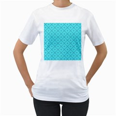 Pattern Background Texture Women s T Shirt (white) (two Sided)
