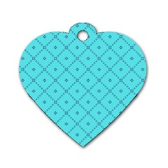 Pattern Background Texture Dog Tag Heart (one Side) by Nexatart