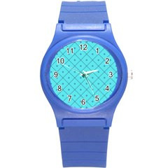 Pattern Background Texture Round Plastic Sport Watch (s) by Nexatart