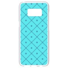 Pattern Background Texture Samsung Galaxy S8 White Seamless Case by Nexatart