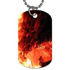 Fire Log Heat Texture Dog Tag (one Side)