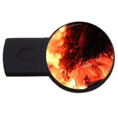 Fire Log Heat Texture Usb Flash Drive Round (2 Gb) by Nexatart