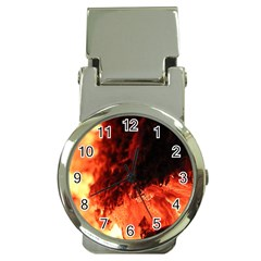 Fire Log Heat Texture Money Clip Watches by Nexatart