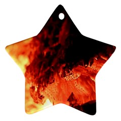 Fire Log Heat Texture Star Ornament (two Sides)