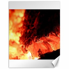 Fire Log Heat Texture Canvas 12  X 16