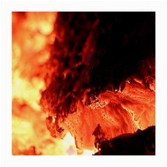Fire Log Heat Texture Medium Glasses Cloth