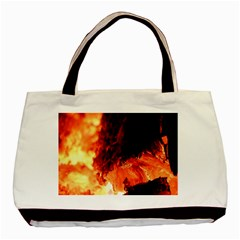 Fire Log Heat Texture Basic Tote Bag (two Sides) by Nexatart