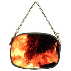 Fire Log Heat Texture Chain Purses (two Sides)  by Nexatart
