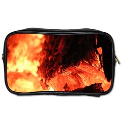 Fire Log Heat Texture Toiletries Bags 2 Side by Nexatart