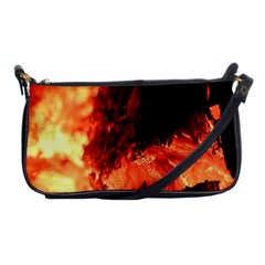 Fire Log Heat Texture Shoulder Clutch Bags by Nexatart