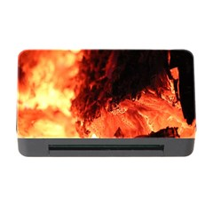 Fire Log Heat Texture Memory Card Reader With Cf by Nexatart
