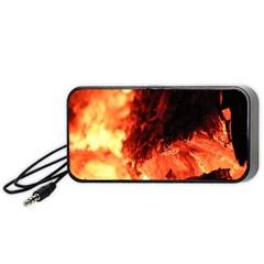 Fire Log Heat Texture Portable Speaker (black)