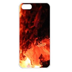 Fire Log Heat Texture Apple Iphone 5 Seamless Case (white)