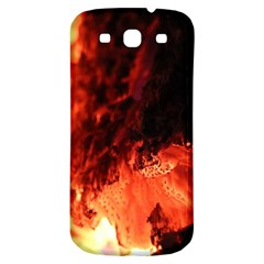 Fire Log Heat Texture Samsung Galaxy S3 S Iii Classic Hardshell Back Case by Nexatart