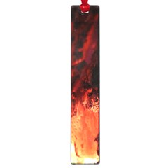 Fire Log Heat Texture Large Book Marks