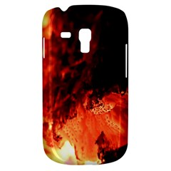 Fire Log Heat Texture Galaxy S3 Mini by Nexatart
