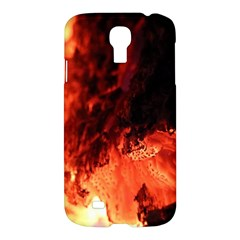 Fire Log Heat Texture Samsung Galaxy S4 I9500/i9505 Hardshell Case by Nexatart