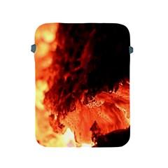 Fire Log Heat Texture Apple Ipad 2/3/4 Protective Soft Cases by Nexatart