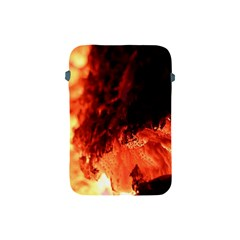 Fire Log Heat Texture Apple Ipad Mini Protective Soft Cases by Nexatart