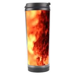 Fire Log Heat Texture Travel Tumbler by Nexatart