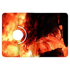 Fire Log Heat Texture Kindle Fire Hdx Flip 360 Case by Nexatart