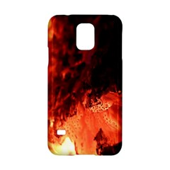 Fire Log Heat Texture Samsung Galaxy S5 Hardshell Case