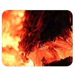 Fire Log Heat Texture Double Sided Flano Blanket (medium)  by Nexatart