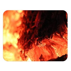 Fire Log Heat Texture Double Sided Flano Blanket (large)