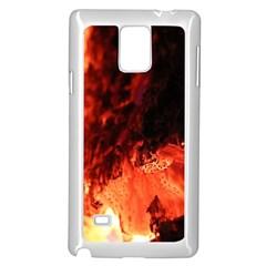 Fire Log Heat Texture Samsung Galaxy Note 4 Case (white) by Nexatart