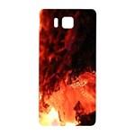 Fire Log Heat Texture Samsung Galaxy Alpha Hardshell Back Case Front