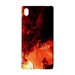 Fire Log Heat Texture Sony Xperia Z3+