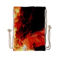Fire Log Heat Texture Drawstring Bag (small)