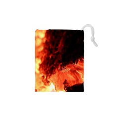 Fire Log Heat Texture Drawstring Pouches (xs)